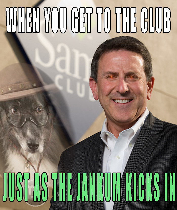 Sam's Club CEO Brian Cornell pictured in front  of a Sam's Club store in Bentonville.